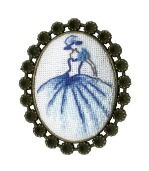 Набор для вышивания Золотое Руно, Брошь «Танцовщица»