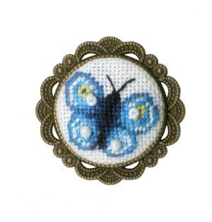 Набор для вышивания Золотое Руно, Брошь «Бабочка»
