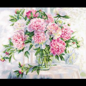 Набор для вышивания Алиса «Пионы у окна» alisa.2-51