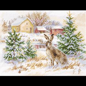 Набор для вышивания Алиса «Зимний день. Заяц-русак» alisa.1-31