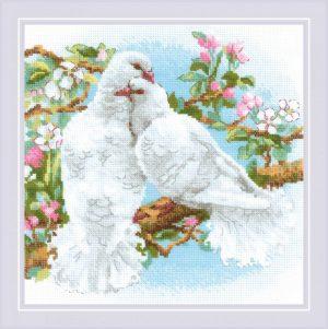 Набор для вышивки крестом Риолис «Белые голуби»