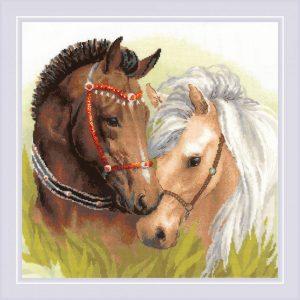 Набор для вышивки крестом Риолис «Пара лошадей»
