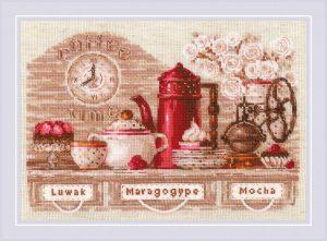 Набор для вышивки крестом Риолис «Coffee Time»