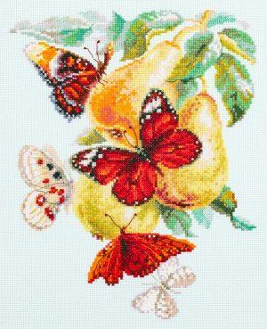 Набор для вышивания Чудесная игла «Бабочки на груше» 130-051