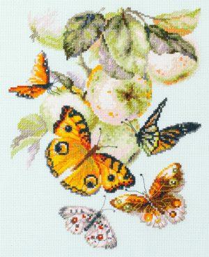 Набор для вышивания Чудесная игла «Бабочки на яблоне» 130-052