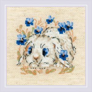Набор для вышивки крестом Риолис «Маленький зайка»