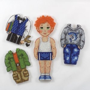 Набор для вышивания Дивная вишня «Кукла Лёва» ИД 005