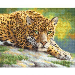 Набор для вышивки крестом Letistitch «Peaceful Jaguar» Мирный ягуар