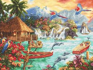 Набор для вышивки крестом Letistitch «Island Life» Островная жизнь