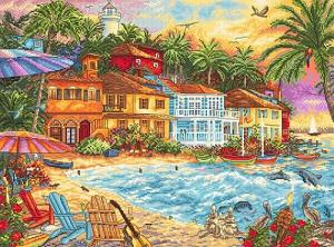 Набор для вышивки крестом Letistitch «Island Time» Островное время