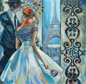 Набор для вышивки крестом RTO «Весна в Париже»