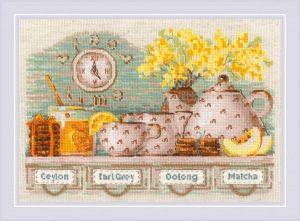 Набор для вышивки крестом Риолис «Tea Time»