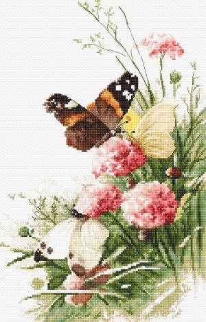 Набор для вышивания крестом Letistitch «Бабочек в поле»