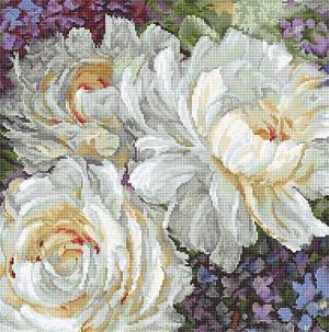 Набор для вышивания крестом Letistitch «Белые розы»