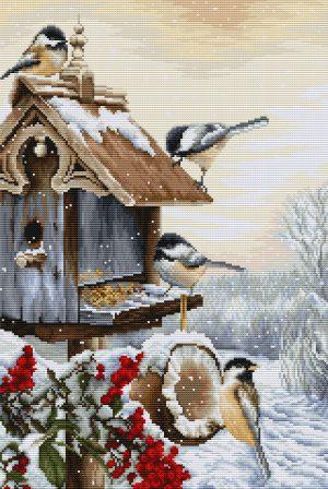 Набор для вышивания крестом LUCA-S «Птичий домик»