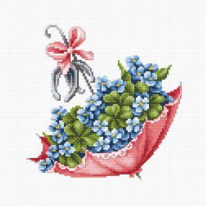 Набор для вышивания крестом LUCA-S «Зонтик»