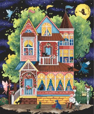 Набор для вышивания крестом Letistitch «Сказочный дом»