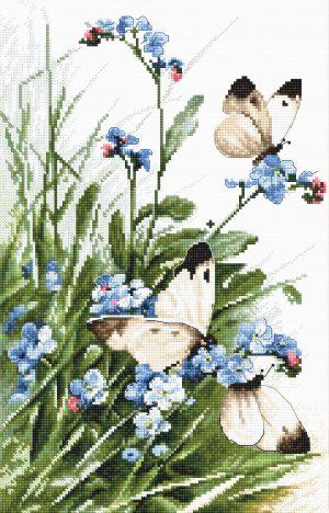 Набор для вышивания крестом Letistitch «Бабочки и цветы»