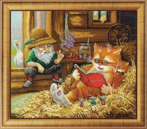 Набор для вышивания бисером Золотые ручки «Сказки на сеновале»