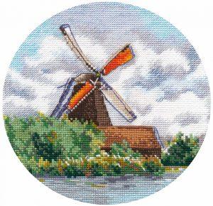 Набор для вышивания Овен «Миниатюра. Мельница» 1297ov
