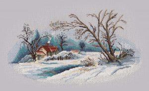 Набор для вышивания Овен «Зимний пейзаж» 1300ov