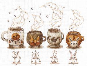 Набор для вышивания Сделай своими руками «Хранители кофе»