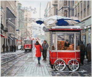 Набор для вышивания Марья Искусница «Зима в городе»