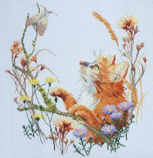 Набор для вышивания Марья Искусница «Пушистый охотник»
