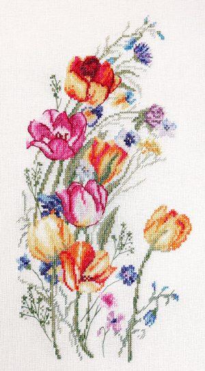 Набор для вышивания Марья Искусница «Цветы весны»