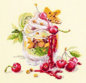 Набор для вышивания Чудесная игла «Вишнёвый десерт»