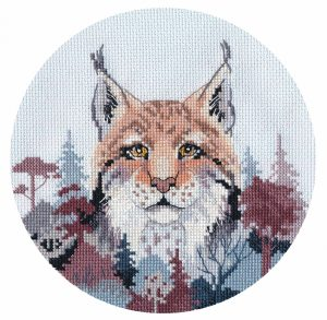 Набор для вышивания Овен «Миниатюра. Рысь»