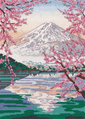 Набор для вышивания Овен «Фудзияма и озеро Кавагути»