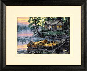 Набор для вышивания DIMENSIONS «Утро на озере»