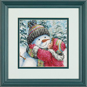 Набор для вышивания DIMENSIONS «Поцелуй для снеговика»