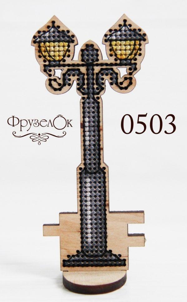 Набор для вышивания крестиком на деревянной основе Фрузелок «Фонарь 2»