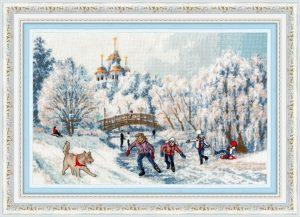 Набор для вышивания Золотое Руно «Рождественские каникулы»