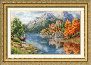 Набор для вышивания Золотое Руно «Замок у реки»