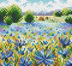 Набор для вышивания Жар-Птица «Васильковое поле» М-528