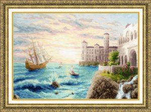 Набор для вышивания Золотое Руно «Морской прибой»