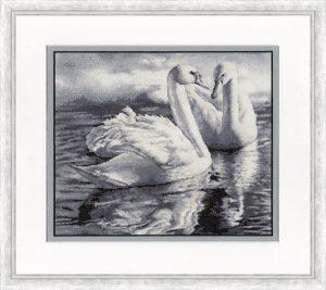 Набор для вышивания Золотое Руно «Два лебедя»