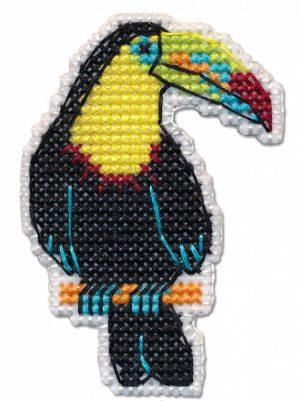 Набор для вышивания Овен «Значок-тукан» 1318ov