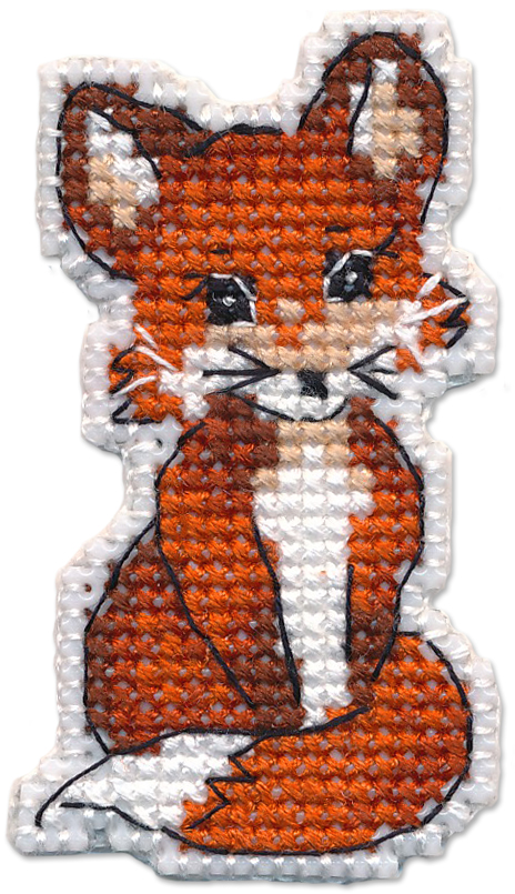 Набор для вышивания Овен «Значок-лисичка» 1319ov