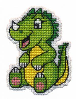 Набор для вышивания Овен «Значок-динозаврик» 1321ov