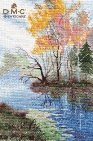 Набор для вышивания Овен «На озере» 1322ov