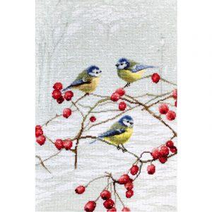 Набор для вышивания крестом Letistitch «Лазоревка» Blue tits LETI 942