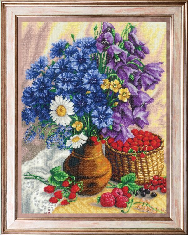 Набор для вышивания бисером Золотые ручки «Букет полевых цветов» Ц-029