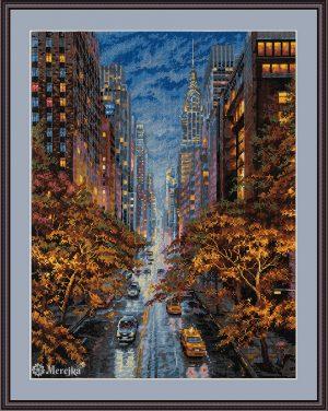 Набор для вышивания Мережка «Осень в Нью-Йорке» К-172