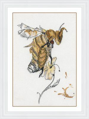 Набор для вышивания крестом Золотые ручки «Кофейный мёд» ЗХ-024