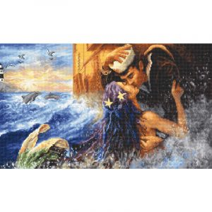 Набор для вышивания крестом Letistitch «Поцелуй русалки» Mermaid kiss LETI.940