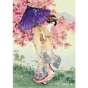 Набор для вышивания крестом Letistitch «Вишневое дерево грез» Cherry tree of dreams LETI.953
